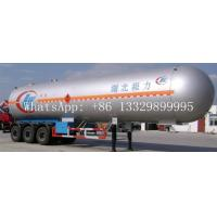 Wholesale hot sale ASME standard LPG gas propane tank trailer, best price new brand 56cbm 3 Axle LPG tank trailer for sale from china suppliers