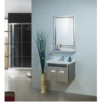 China big size illuminated bathroom mirrors / wall mounted makeup mirror aluminum frame for sale
