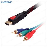 Wholesale Linsone Gold plated 19pin hdmi to 3RCA cable V1.4 from china suppliers