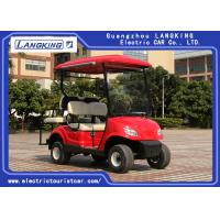 Quality Four Wheel Electric Golf Carts With 2 Rear Seats Powered By 48Volt Free Maintenance Battery 8V*6PCS for sale