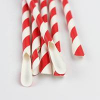 China Decorative Party Paper Straws Customized Logo Juice Beverage Paper Drinking Straws on sale