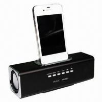 Wholesale Aluminum Multifunction Portable Docking Mini Speaker for iPhone/iPod from china suppliers