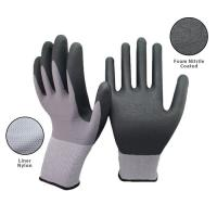 15 Gauge Seamless Knit Nitrile Coated Work Gloves For Industrial Safety Work for sale