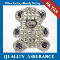 Wholesale D0930 beautiful rhinestone applique for baby clothes;wholesale applique for baby clothes from china suppliers