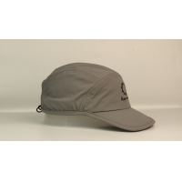 Wholesale Quick dry sports meterial soft grey plastic buckle rubber printing sports caps hats from china suppliers