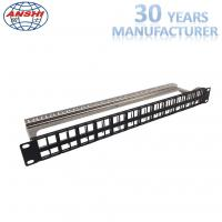 Quality Shielded Stp Rack Mount Patch Panel 48 Port 19 Inch With Cable Management for sale