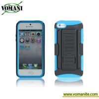 Best PC+silicone case for iphone5, Belt clip cover, transformers design wholesale