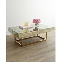 Wholesale Mirror Furniture Metal Geometric Frame Coffee Table Console table with Stainless Steel Base from china suppliers