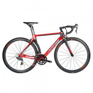 China Red 22 Speed Carbon Fiber Road Bike Shimano Ultegra Aluminum Alloy Rim on sale