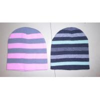 wholesale cheap Deluxe Knit Striped sloppy slouchy beanie Hat snow cap for kids adults