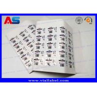 Buy cheap PET Plastic 2ml Sterile Injection Steroid Bottle Labels Waterproof Eco Friendly from wholesalers