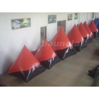 China Red 0.6mm/0.9mm inflatable doritos shape air bunker for commercial use on sale