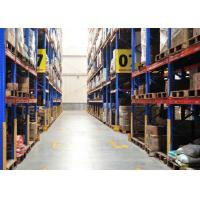 Durable Conventional Powder Coating Steel Pallet Racks , Metal Shelving Systems For Long Material