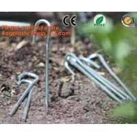 Wholesale 100 Pieces Anti Grass Turf Nails Mulching Cloth Gardening Plastic Holder Tools,500PCS/CTN OR 1000PCS/CTN,60CTNS/PALLET,2 from china suppliers