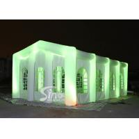 Wholesale 12x6m big blow up inflatable wedding party tent with LED light, movable doors N windows from china suppliers