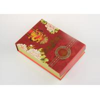 Customized Red Recycled Paper Gift Boxes , Eco - Friendly Tea Packaging Box for sale