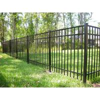 Wholesale Black Steel Garden Fence Panels , Galvanized Steel Fence 40mm*40mm Rail Size from china suppliers