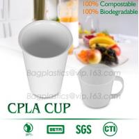Wholesale Blister molding biodegradable durable using coffe cup, cpla cup of blister molding, corn starch tea cup from china suppliers