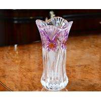 Lead Free Galle Glass Vase Machine Made Diamond Designer House KTV Hotel