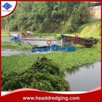 China hydraulic professional water weed collecting boat aquatic weed harvester producer for sale