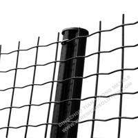 Electro Galvanised Wire Mesh Panels Green Powder Coating With Barb Top for sale