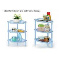 China 3-tier home storage & organization kitchen spice jar rack bathroom corner shelf plastic bath rack bathroom organizer on sale