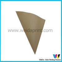 Greaseproof Trangle Shape Fast Food Kraft Paper Bags Support Customised Printing for sale