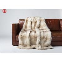 China Wild Fox Mink Throw Blanket Lodge Cabin Cottage Rustic Sofa Dry Clean on sale
