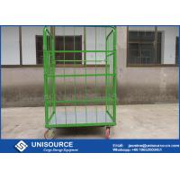 Wholesale Roll Cage Container With Foldable Steel Basket , Medium Duty Wire Mesh Container from china suppliers