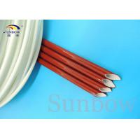 Quality Silicone Fiberglass Braided Sleeving Silicone Fiberglass Sleeving for sale
