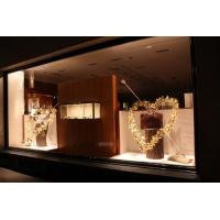 Buy cheap Heart Metal Frame Shop Front Window Displays With Foil Leaves Decoration For from wholesalers