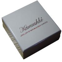 Offwhite Varnish Paint Keepsake Gift Boxes Shining Red For Earing Display for sale