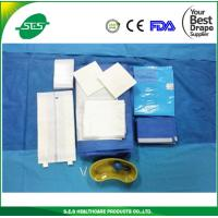 China Anti-blood Waterproof Medical Non-woven Cesarean Drape Pack on sale