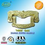 Best Ref H008 Gold Size 19 X 11 Cm Casket Handles , Zinc Alloy Coffin Accessories wholesale