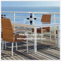 Wholesale Modern Fashion Style Outside Dining Table with Toughened Glass from china suppliers