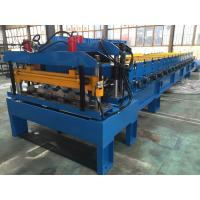 Galvanized Steel Steel Tile Roll Forming Machine 0.4-0.6mm Thickness