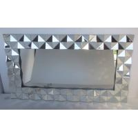 Diamond Frameless 3D Wall Mirror For Home Decorative 162 * 90cm Size for sale