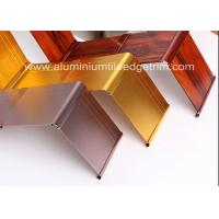 Wholesale Gold Brushed Metal Skirting Trim , Aluminium Skirting Duct For Hotel And Office from china suppliers