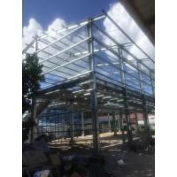 Quality BS Standard Hot Dip Galvanized Prefabricated Workshop Steel Structure Materials for sale