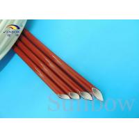 Buy cheap Insulation type Silicone Fiberglass Sleeving / Flame Retardant industrial from wholesalers