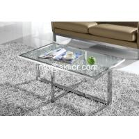 stainless steel glass top coffee table, tea table, center table, side table SD-5008