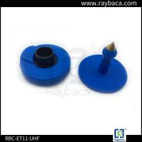 Wholesale 7.4 G Animals Blue EID Ear Tags For Pigs 30mm Diameter 22mm Height from china suppliers