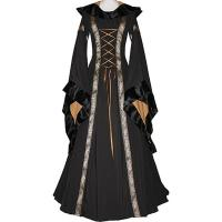 Wholesale Medieval Dress Wholesale XXS to XXXL Custom Made Sarah Black Medieval Renaissance Victorian Dress cosplay from china suppliers