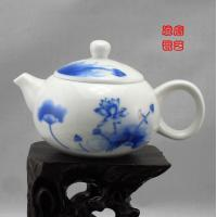 Wholesale Blue And White Chinese Jingdezhen Porcelain Tea Sets With Qinghua Lotus from china suppliers