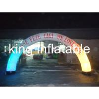 China Digital printing Led light with Oxford fabric material  inflatable advertising arch for promotion for sale