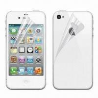Wholesale Clear Screen Protector, Suitable for iPhone 4S, Made of Transparent PET Material from china suppliers