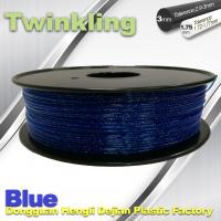 Wholesale Blue Color Flexible 3D Printer Filament 1.75 3.0mm Twinkling Filament 200°C - 230°C from china suppliers