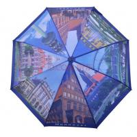 Wholesale hot sale heat transfer print auto open straight umbrella with london views made in china from china suppliers