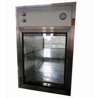 Wholesale Electronic Interlocking Air Shower Pass Box / Pharmaceutical Cleanroom HEPA Filtered Pass Through from china suppliers