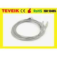 Silver Plated Copper Electrode EEG Medical Cable 1 M Or Custom Length